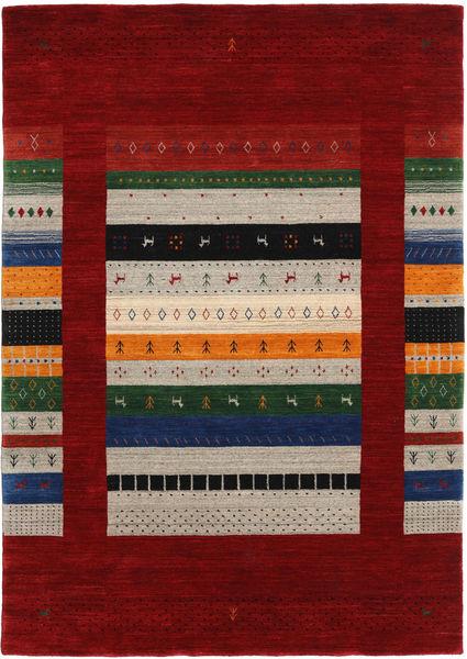 Loribaf Loom Designer Teppe 160X230 Moderne Mørk Rød/Lys Grå (Ull, India)