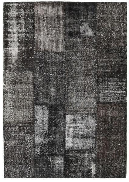 Patchwork Teppe 161X231 Ekte Moderne Håndknyttet Mørk Grå (Ull, Tyrkia)