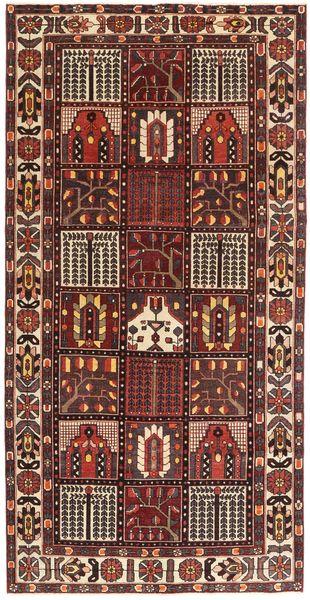 Bakhtiar Patina Teppe 154X305 Ekte Orientalsk Håndknyttet Mørk Rød/Mørk Brun (Ull, Persia/Iran)