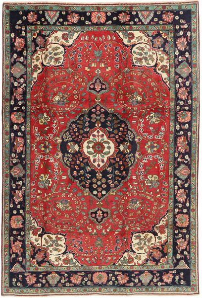 Tabriz Teppe 198X303 Ekte Orientalsk Håndknyttet Mørk Rød/Mørk Brun (Ull, Persia/Iran)