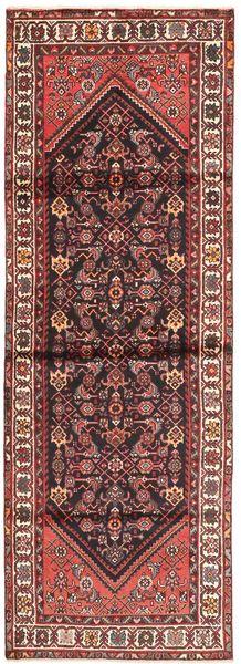 Hamadan Teppe 100X300 Ekte Orientalsk Håndknyttet Teppeløpere Mørk Rød/Beige (Ull, Persia/Iran)
