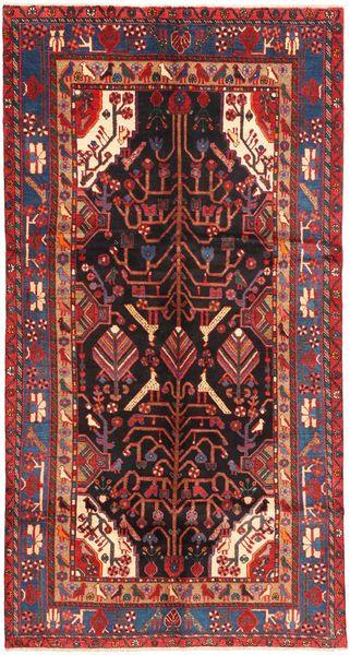 Nahavand Teppe 151X292 Ekte Orientalsk Håndknyttet Teppeløpere Mørk Rød/Mørk Brun (Ull, Persia/Iran)
