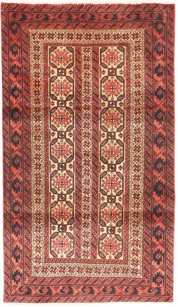 Beluch Teppe 88X158 Ekte Orientalsk Håndknyttet Mørk Rød/Mørk Brun (Ull, Persia/Iran)