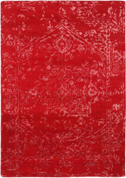 Orient Express - Rød Teppe 160X230 Ekte Moderne Håndknyttet Rød (Ull/Bambus Silke, India)