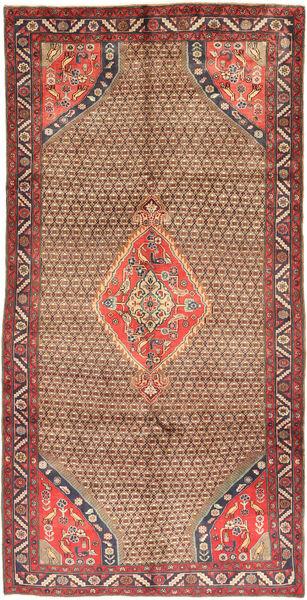 Koliai Teppe 150X295 Ekte Orientalsk Håndknyttet Teppeløpere Mørk Rød/Brun (Ull, Persia/Iran)