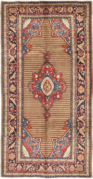 Koliai Teppe 155X305 Ekte Orientalsk Håndknyttet Teppeløpere Lysbrun/Mørk Brun (Ull, Persia/Iran)