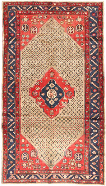Koliai Teppe 156X281 Ekte Orientalsk Håndknyttet Teppeløpere Mørk Rød/Beige (Ull, Persia/Iran)