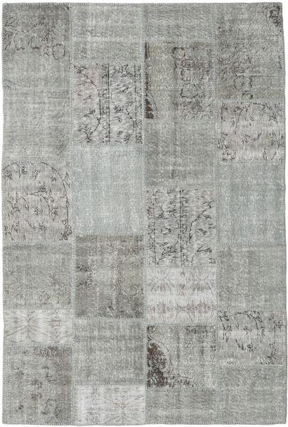 Patchwork Teppe 159X236 Ekte Moderne Håndknyttet Lys Grå/Turkis Blå/Mørk Grå (Ull, Tyrkia)