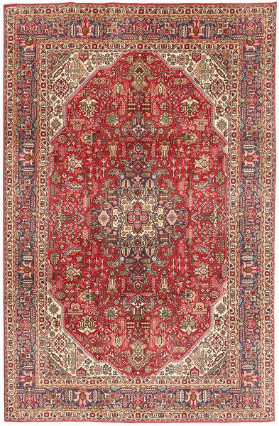 Tabriz Teppe 199X300 Ekte Orientalsk Håndknyttet Rust/Mørk Brun (Ull, Persia/Iran)
