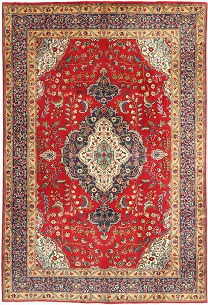 Tabriz Teppe 190X287 Ekte Orientalsk Håndknyttet Mørk Rød/Rust (Ull, Persia/Iran)