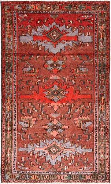Hamadan Teppe 110X190 Ekte Orientalsk Håndknyttet Mørk Rød/Mørk Brun (Ull, Persia/Iran)