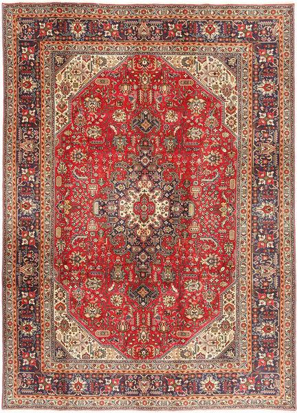 Tabriz Teppe 200X281 Ekte Orientalsk Håndknyttet Mørk Rød/Lysbrun (Ull, Persia/Iran)