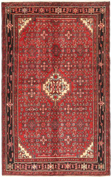 Hosseinabad Teppe 153X245 Ekte Orientalsk Håndknyttet Mørk Rød/Mørk Brun (Ull, Persia/Iran)