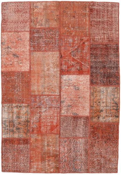 Patchwork Teppe 159X231 Ekte Moderne Håndknyttet Mørk Rød/Lyserosa (Ull, Tyrkia)