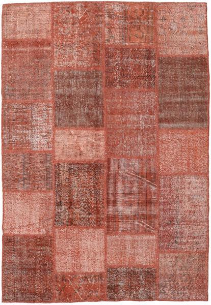 Patchwork Teppe 158X230 Ekte Moderne Håndknyttet Mørk Rød/Lysbrun (Ull, Tyrkia)