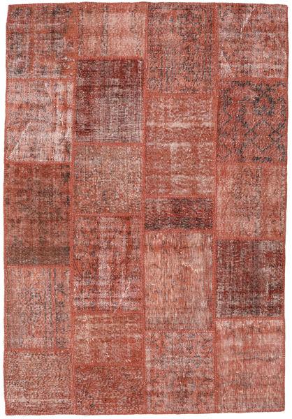Patchwork Teppe 158X232 Ekte Moderne Håndknyttet Mørk Rød/Lysbrun (Ull, Tyrkia)