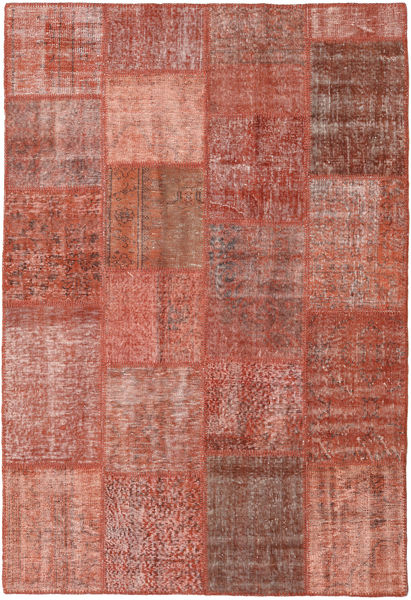 Patchwork Teppe 157X232 Ekte Moderne Håndknyttet Mørk Rød/Lysbrun (Ull, Tyrkia)
