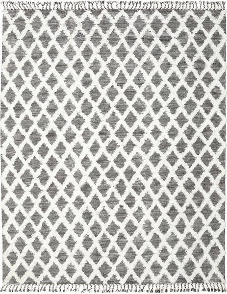 Inez - Mørk Brun/Vit Teppe 200X300 Ekte Moderne Håndvevd Lys Grå/Mørk Grå (Ull, India)
