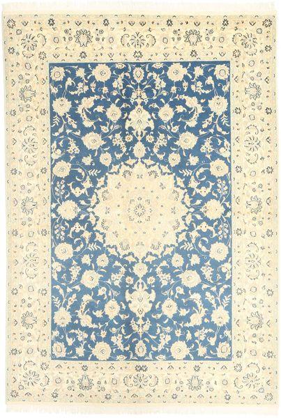 Nain 9La Teppe 166X247 Ekte Orientalsk Håndknyttet Beige/Mørk Beige (Ull/Silke, Persia/Iran)