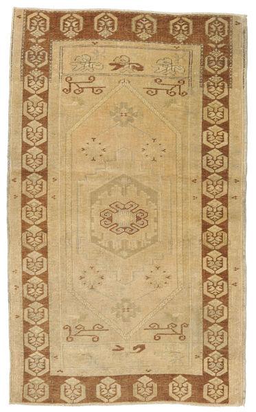 Taspinar Teppe 108X180 Ekte Orientalsk Håndknyttet Mørk Beige/Lysbrun (Ull, Tyrkia)