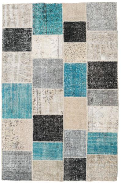 Patchwork Teppe 196X304 Ekte Moderne Håndknyttet Lys Grå/Mørk Grå (Ull, Tyrkia)