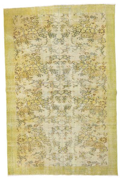Colored Vintage Teppe 160X241 Ekte Moderne Håndknyttet Lysgrønn/Olivengrønn (Ull, Tyrkia)