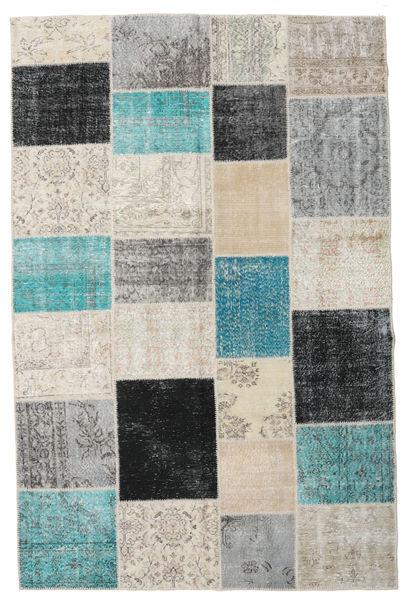 Patchwork Teppe 198X301 Ekte Moderne Håndknyttet Lys Grå/Mørk Grå (Ull, Tyrkia)
