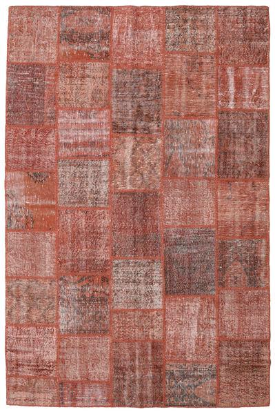 Patchwork Teppe 198X301 Ekte Moderne Håndknyttet Mørk Rød/Lyserosa (Ull, Tyrkia)