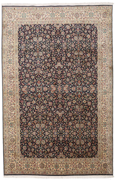 Kashmir Ren Silke Teppe 164X252 Ekte Orientalsk Håndknyttet Lys Grå/Lysbrun (Silke, India)