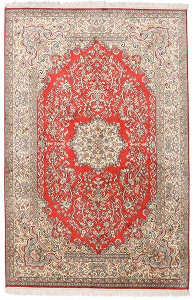 Kashmir Ren Silke Teppe 124X190 Ekte Orientalsk Håndknyttet Lys Grå/Hvit/Creme (Silke, India)
