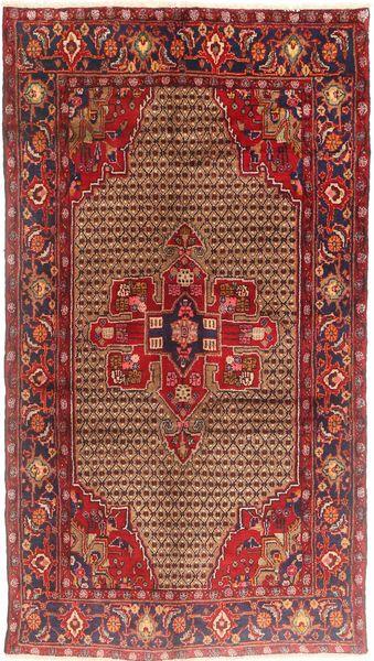 Koliai Teppe 150X275 Ekte Orientalsk Håndknyttet Teppeløpere Mørk Rød/Lysbrun (Ull, Persia/Iran)