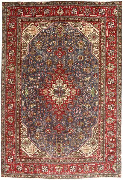 Tabriz Teppe 200X295 Ekte Orientalsk Håndknyttet Mørk Rød/Brun/Mørk Brun (Ull, Persia/Iran)