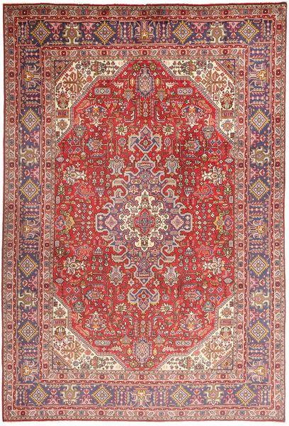 Tabriz Teppe 200X298 Ekte Orientalsk Håndknyttet Mørk Rød/Lyserosa (Ull, Persia/Iran)