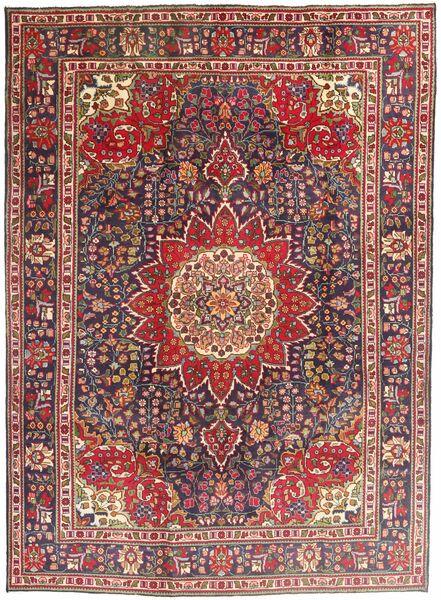 Tabriz Teppe 212X292 Ekte Orientalsk Håndknyttet Mørk Rød/Mørk Brun (Ull, Persia/Iran)