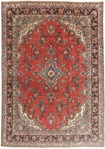 Hamadan Patina Teppe 210X300 Ekte Orientalsk Håndknyttet Mørk Rød/Mørk Brun (Ull, Persia/Iran)