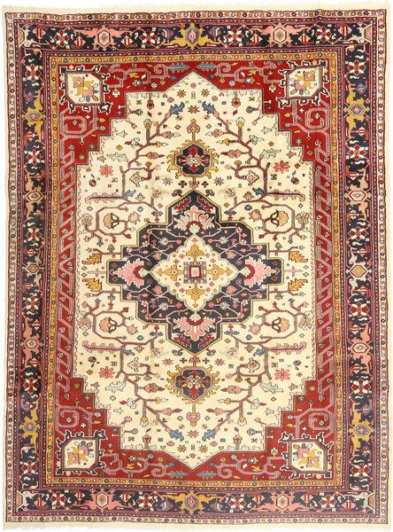Heriz Teppe 253X350 Ekte Orientalsk Håndknyttet Mørk Rød/Lysbrun/Beige Stort (Ull, Persia/Iran)