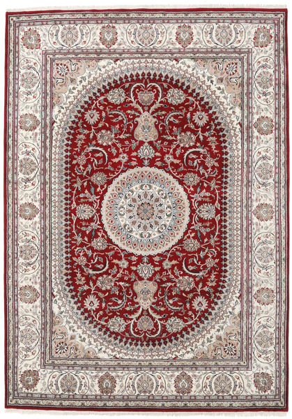 Nain Indisk Teppe 253X357 Ekte Orientalsk Håndknyttet Lys Grå/Mørk Rød Stort ( India)