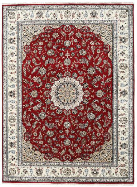 Nain Indisk Teppe 253X346 Ekte Orientalsk Håndknyttet Lys Grå/Mørk Rød Stort ( India)