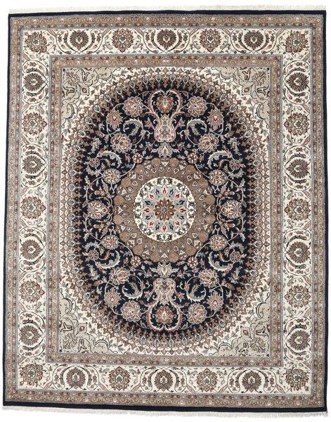 Nain Indisk Teppe 252X311 Ekte Orientalsk Håndknyttet Lys Grå/Mørk Grå Stort ( India)