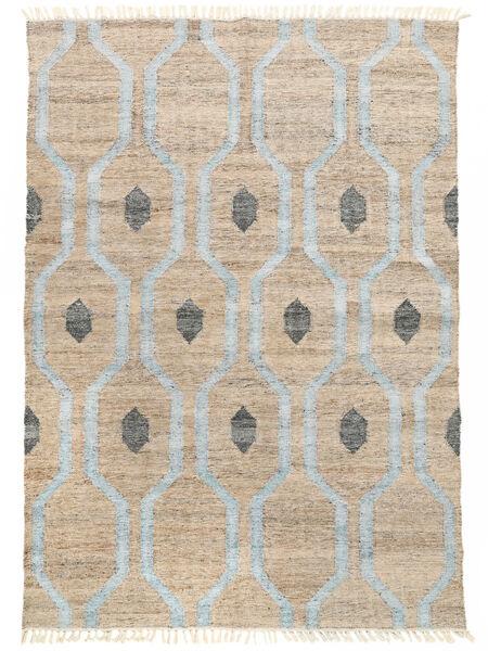 Cosmou - Lys Blå Teppe 170X240 Ekte Moderne Håndvevd Lys Grå/Hvit/Creme ( India)