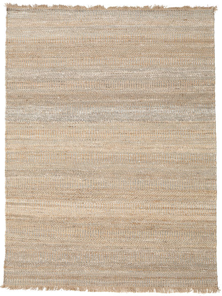 Sahara Jute Teppe 170X240 Ekte Moderne Håndvevd Lys Grå/Beige ( India)