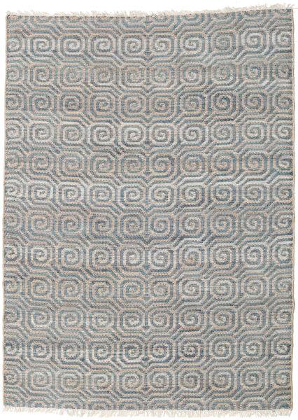 Thar Jute Teppe 170X240 Ekte Moderne Håndvevd Lys Grå/Blå ( India)