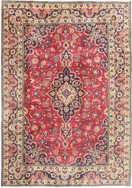 Tabriz Teppe 197X288 Ekte Orientalsk Håndknyttet Beige/Mørk Grå (Ull, Persia/Iran)
