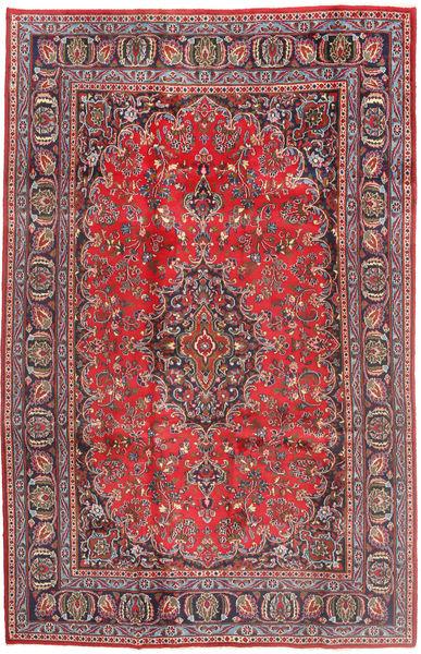 Mashad Teppe 187X293 Ekte Orientalsk Håndknyttet Mørk Rød/Rust (Ull, Persia/Iran)