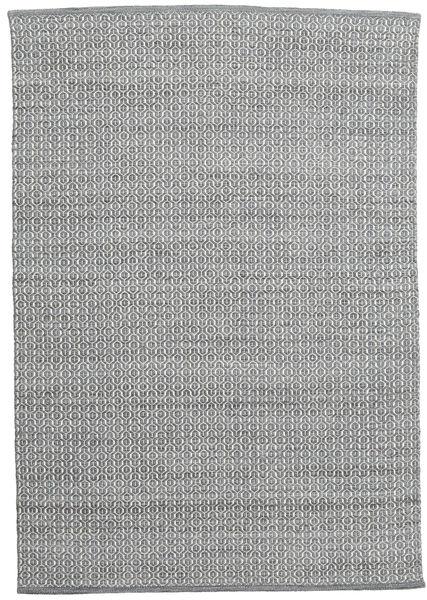 Alva - Mørk Grå/Vit Teppe 160X230 Ekte Moderne Håndvevd Mørk Grå/Lys Grå/Lysgrønn (Ull, India)