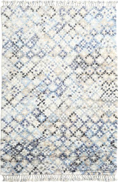 Greta Teppe 200X300 Ekte Moderne Håndknyttet Hvit/Creme/Beige (Ull, India)