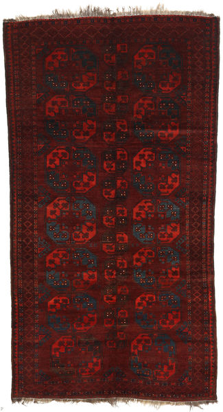 Afghan Khal Mohammadi Teppe 160X301 Ekte Orientalsk Håndknyttet Mørk Rød (Ull, Afghanistan)