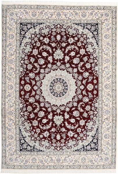 Nain 9La Teppe 246X380 Ekte Orientalsk Håndknyttet Lys Grå/Beige (Ull/Silke, Persia/Iran)