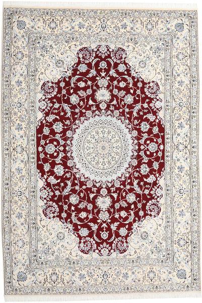 Nain 9La Teppe 247X368 Ekte Orientalsk Håndknyttet Lys Grå/Beige (Ull/Silke, Persia/Iran)