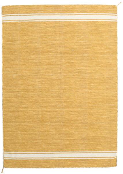 Ernst - Mustard/Off White Teppe 170X240 Ekte Moderne Håndvevd Lysbrun (Ull, India)